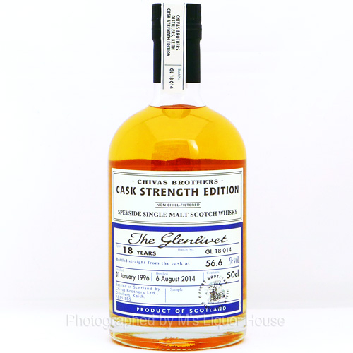 Glenlivet 18YO [1996] Chivas Brothers Cask Strength Edition BATCH:GL18014