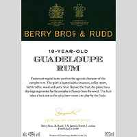 Berrys' Own Selection Guadeloupe Rum 1998