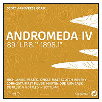 Scotch Universe Andromeda IV 89° LP.8.1' 1898.1""