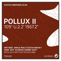 Scotch Universe Pollux Ⅱ 109゜ U.2.2' 1967.2""