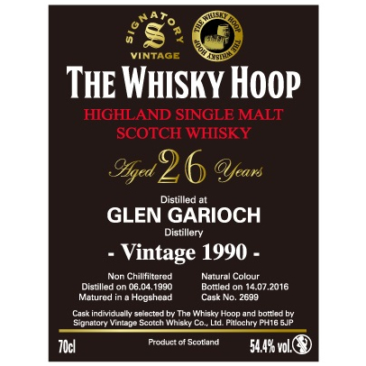 The Whisky Hoop Signatory Vintage Glen Garioch 1990
