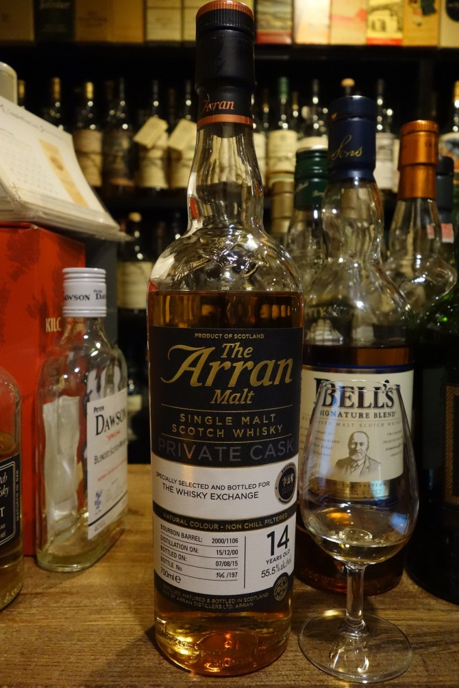 ISLE OF ARRAN 2000-2015 14yo OB PRIVATE CASK for THE WHISKY EXCHANGE #2000/1106