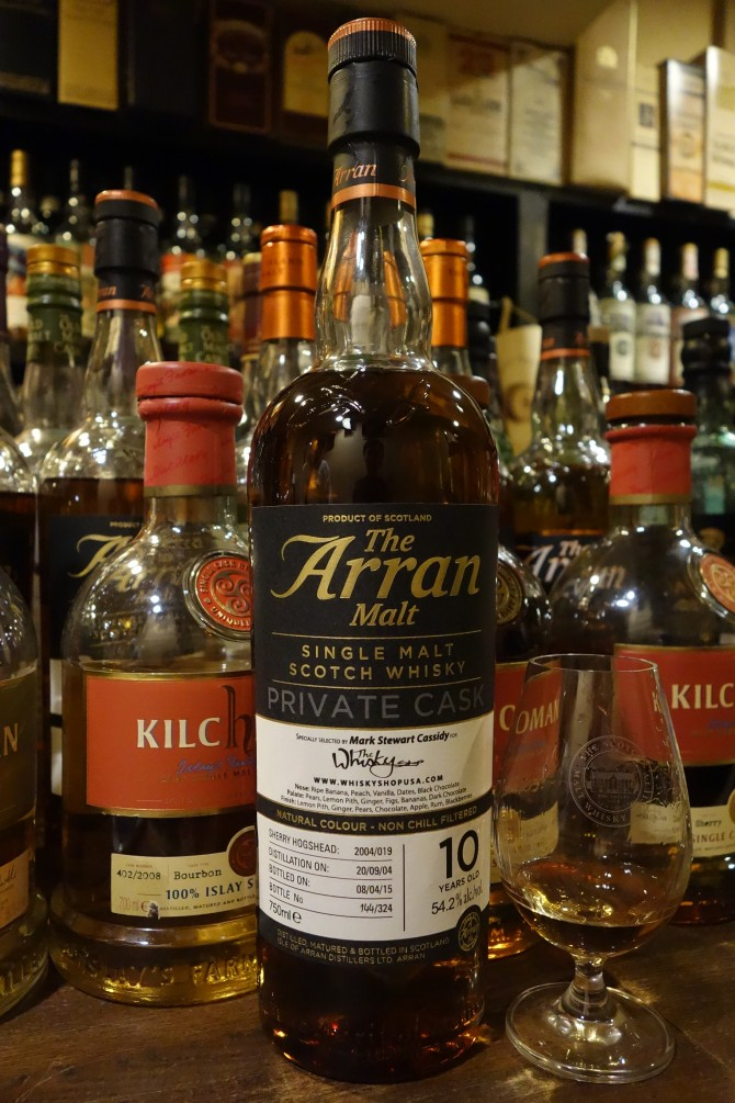 ISLE OF ARRAN 2004-2015 10yo OB PRIVATE CASK for THE WHISKY SHOP #2004/019