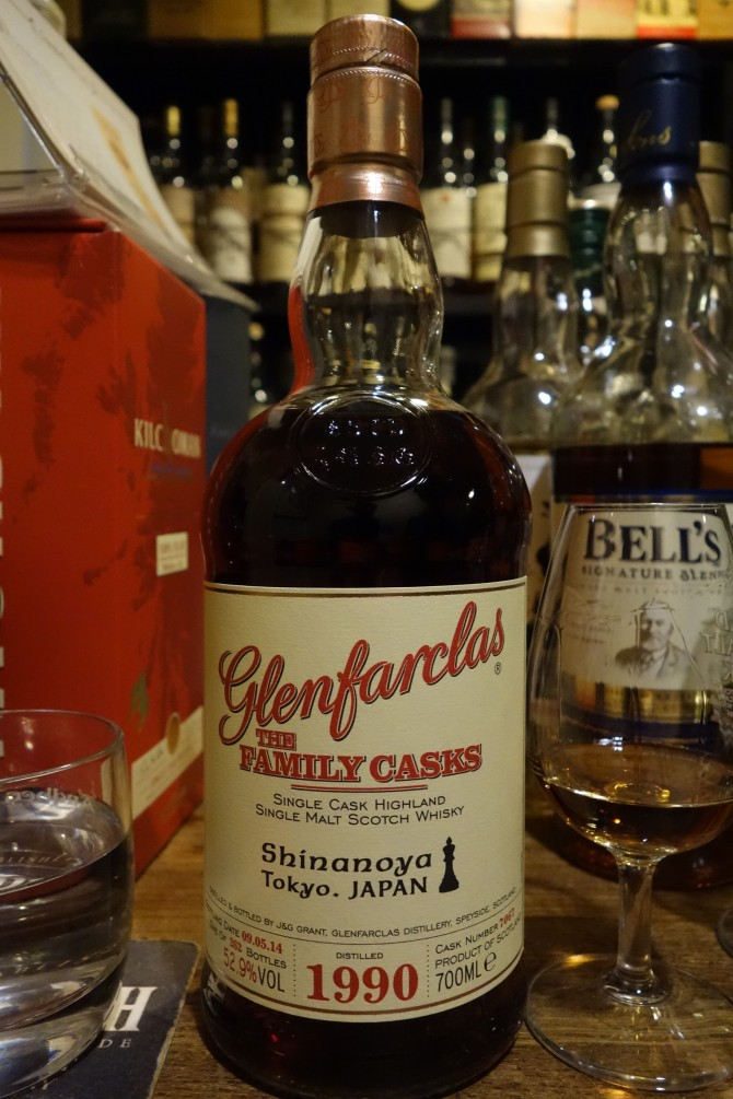 GLENFARCLAS 1990-2015 OB THE FAMILY CASKS for Shinanoya #7067
