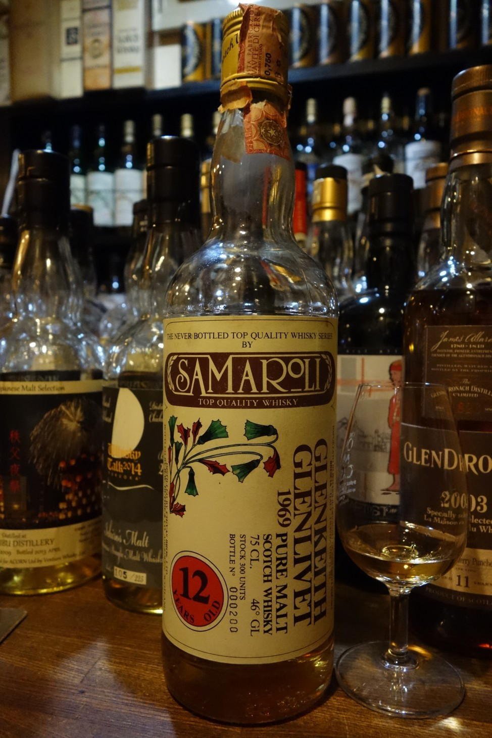 "グレンキース GLENKEITH 1969 12yo SAMAROLI ""THE NEVER BOTTLED TOP QUALITY WHISKY SERIES"""