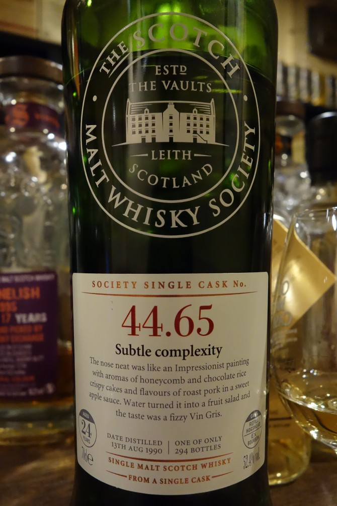 "クレイゲラキ CRAIGELLACHIE 1990 24yo THE SCOTCH MALT WHISKY SOCIETY ""44.65"""