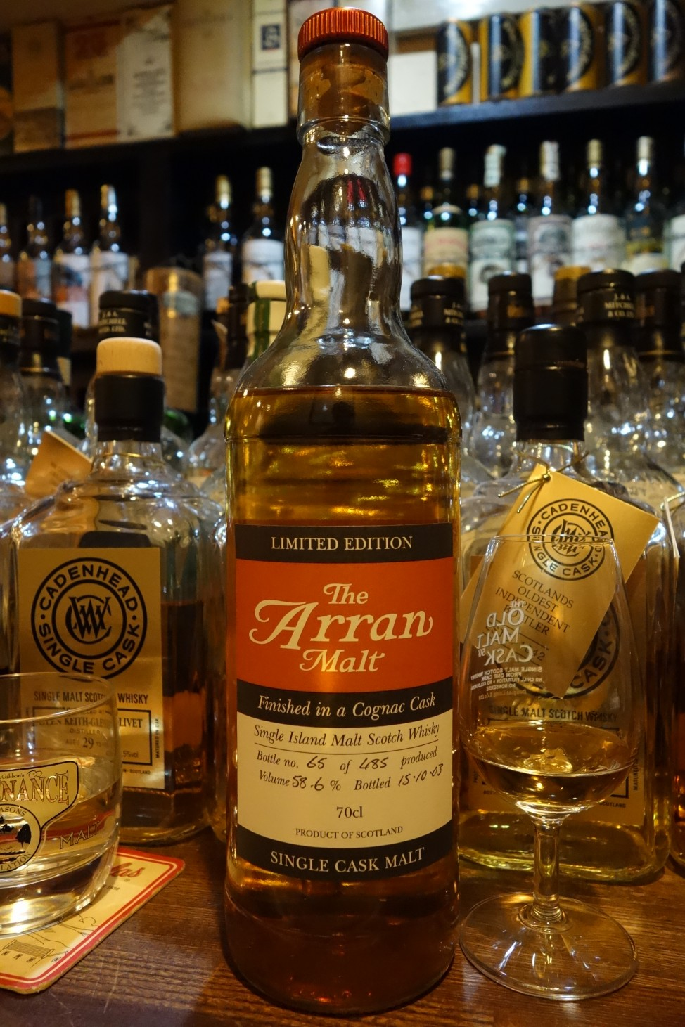 ISLE OF ARRAN OB SINGLE CASK Finished in a Cognac Cask