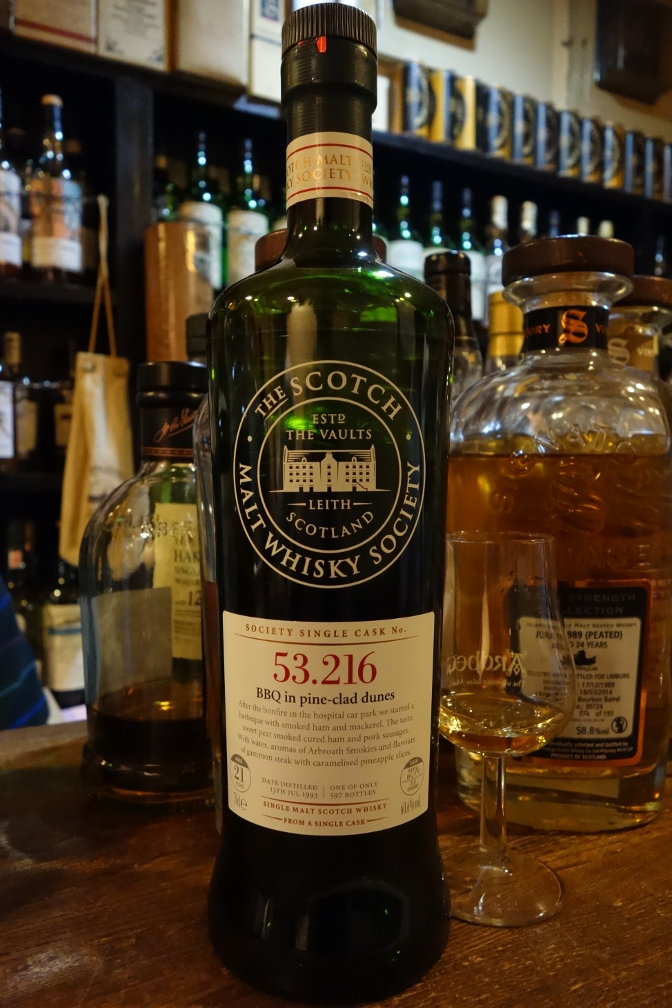 "CAOL ILA 1993 21yo THE SCOTCH MALT WHISKY SOCIETY ""53.216"""