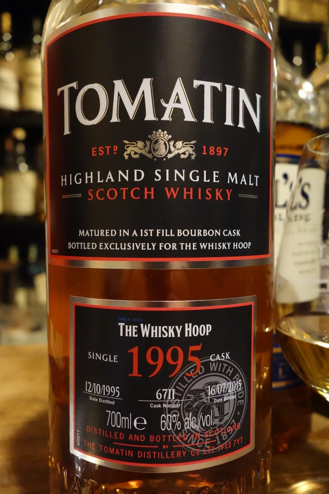 トマーティン TOMATIN 1995-2015 19yo OB for THE WHISKY HOOP #6711