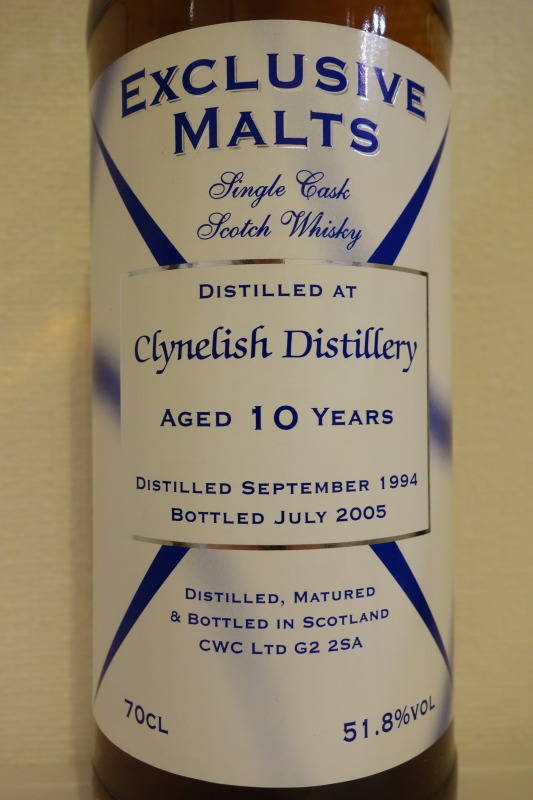 クライヌリッシュ CLYNELISH 1994-2005 10yo EXCLUSIVE MALTS