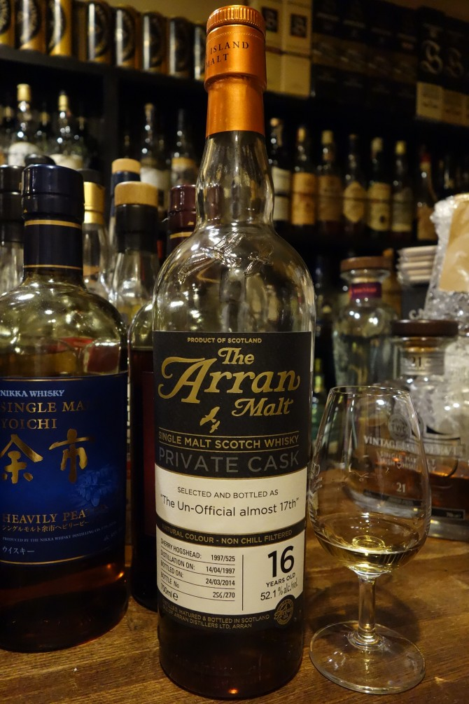 "ISLE OF ARRAN 1997-2014 16yo OB PRIVATE CASK ""The UN-Official almost 17th"" #1997/525"