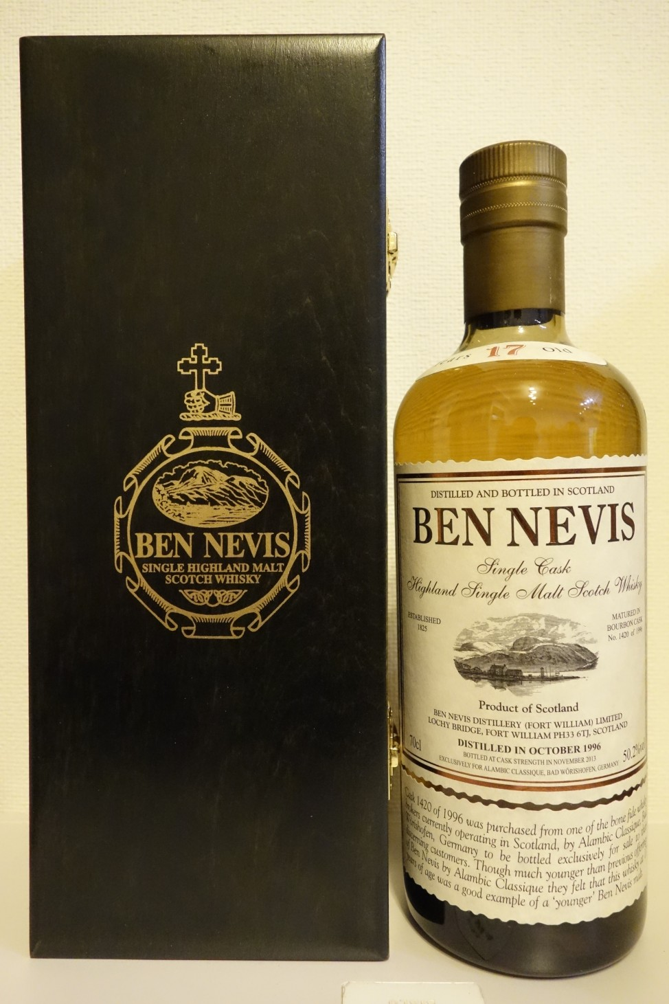 BENNEVIS 1996-2013 17yo OB for ALAMBIC #1420of1996