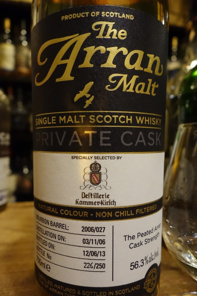 アラン ISLE OF ARRAN 2006-2013 6yo OB PRIVATE CASK for Kammer Kirsch #2006/027