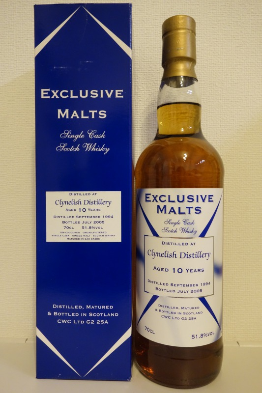 CLYNELISH 1994-2005 10yo EXCLUSIVE MALTS
