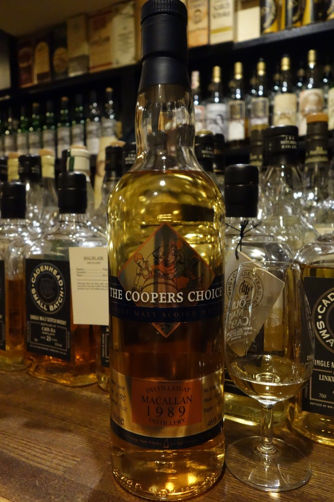 MACALLAN 1989-2014 25yo THE VINTAGE MALT WHISKY THE COOPERS CHOICE #9325