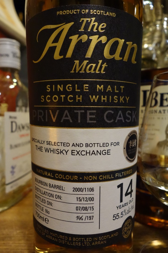 アラン ISLE OF ARRAN 2000-2015 14yo OB PRIVATE CASK for THE WHISKY EXCHANGE #2000/1106