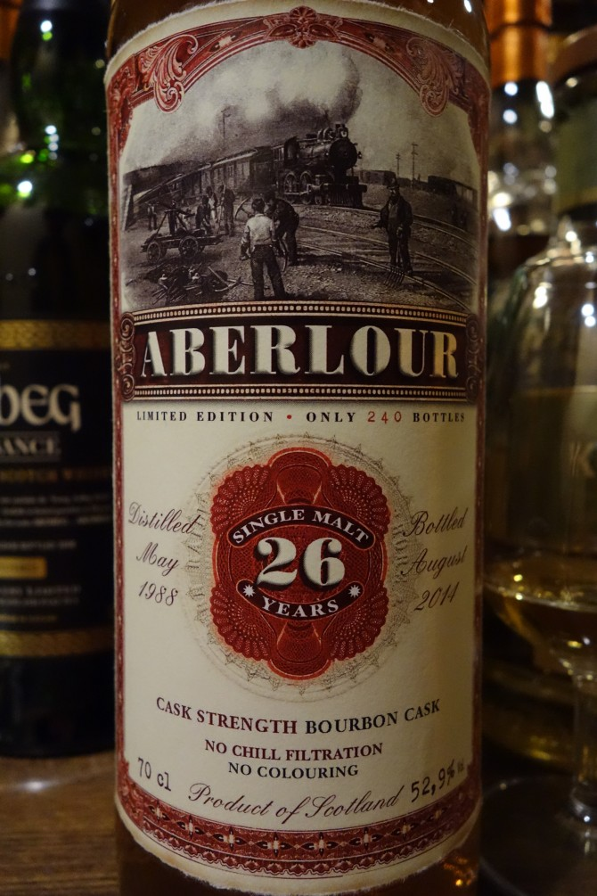 アベラワー ABERLOUR 1988-2014 26yo JACK WIEBERS WHISKY WORLD OLD TRAIN LINE #05291