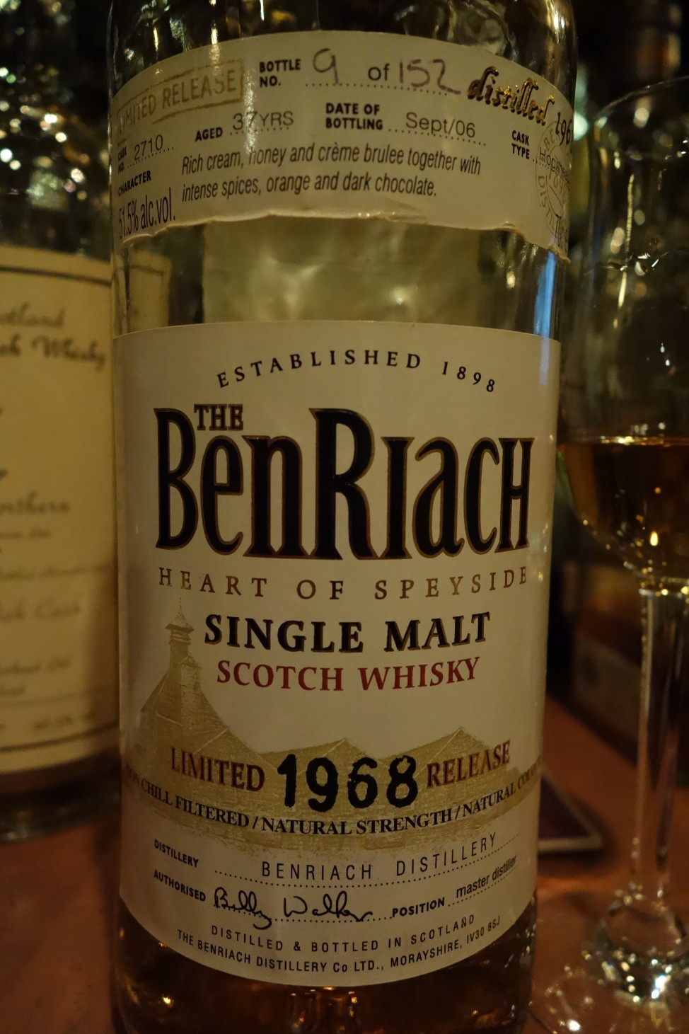 ベンリアック BENRIACH 1968-2006 37yo OB for TAIWAN #2710 (1)