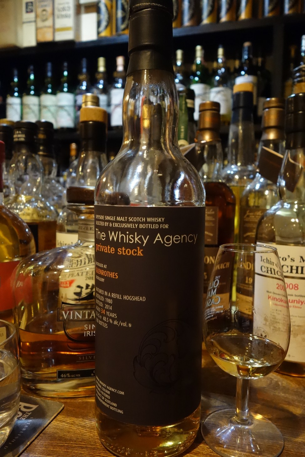 GLENROTHES 1980-2014 34yo THE WHISKY AGENCY private stock