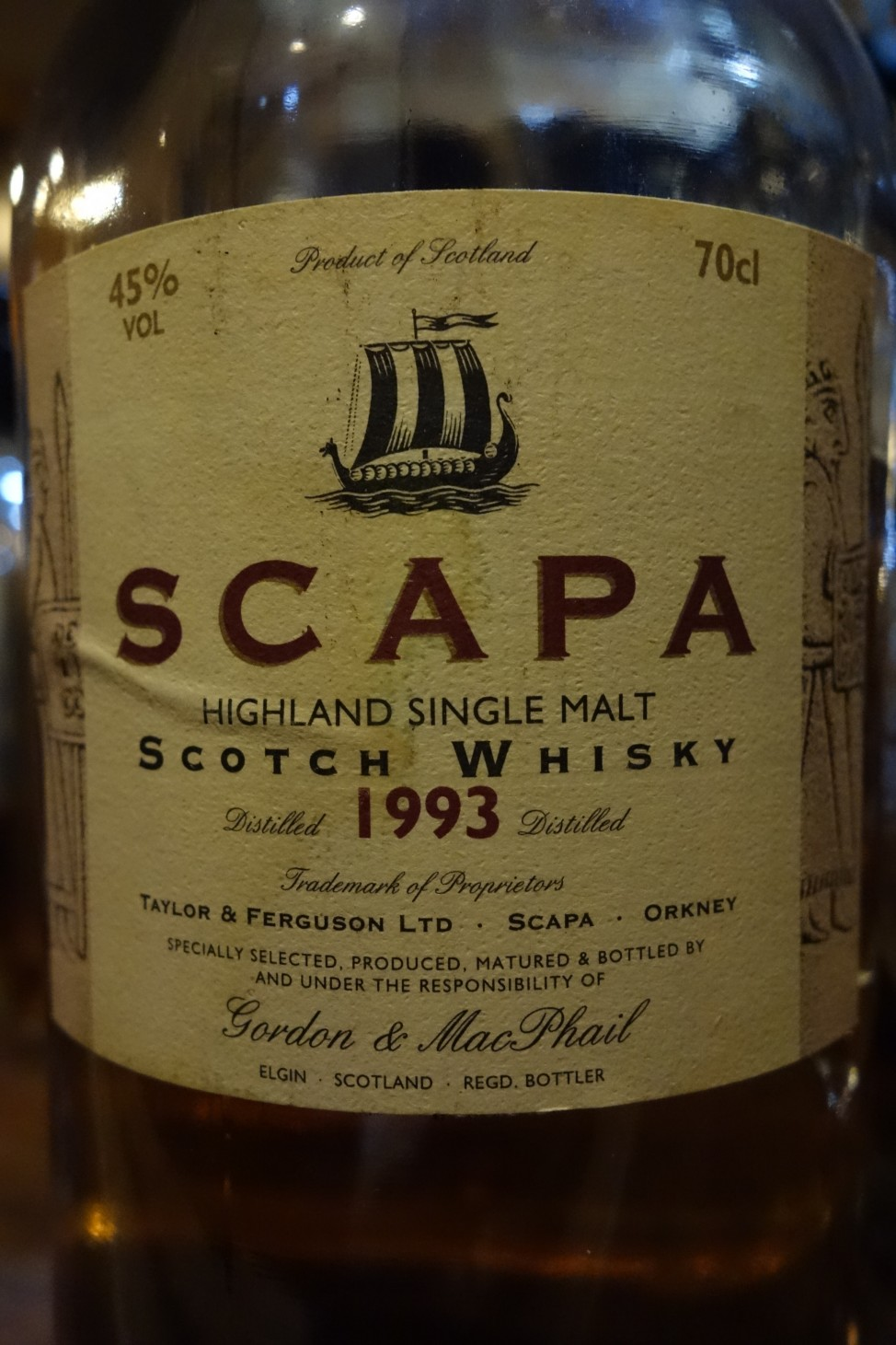 スキャパ SCAPA 1993-2006 GM Distillery Labels (1)