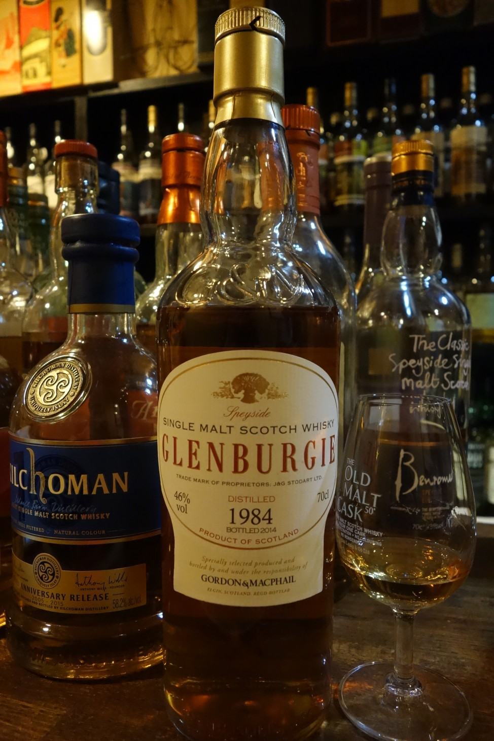 GLENBURGIE 1984-2014 GM Distillery Lebels