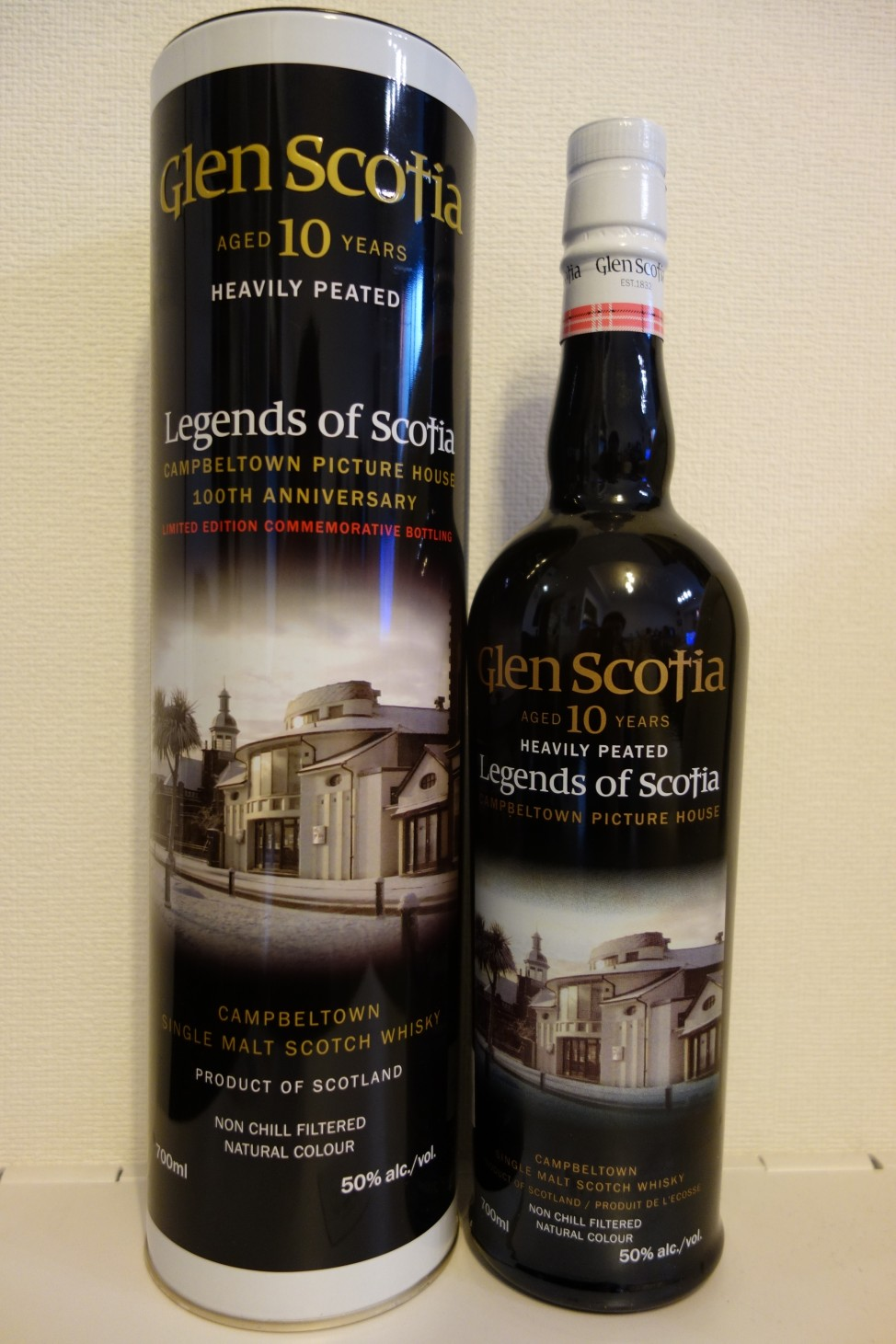 "GLENSCOTIA 10yo OB ""Legends of Scotia"" Campbeltown Picture House 100th Anniversary"
