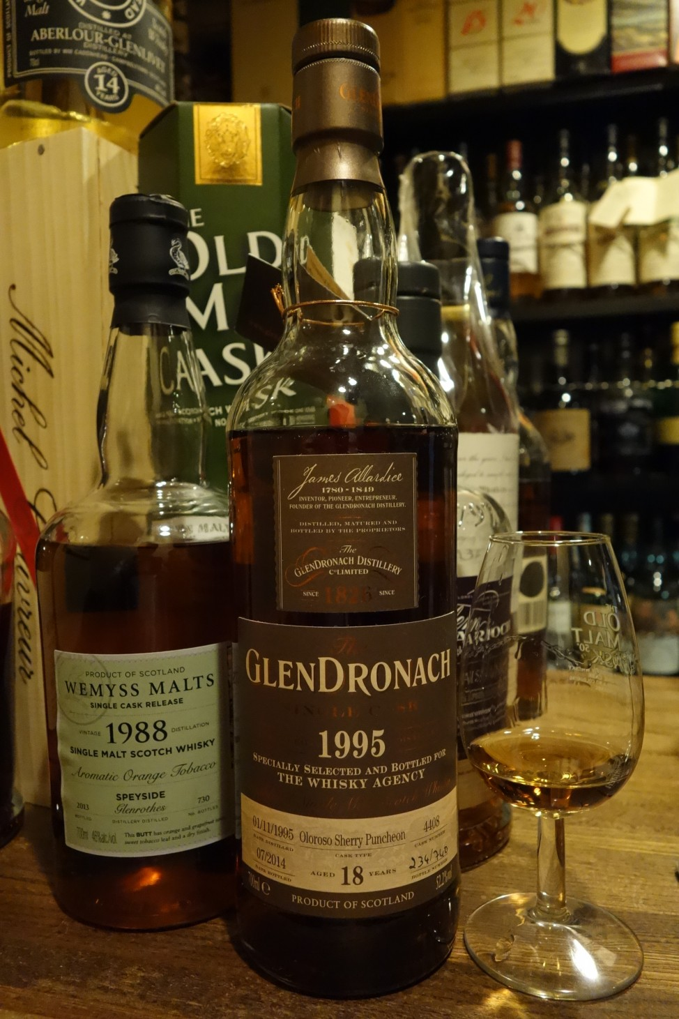 グレンドロナック GLENDRONACH 1995-2014 18yo OB for THE WHISKY AGENCY #4408