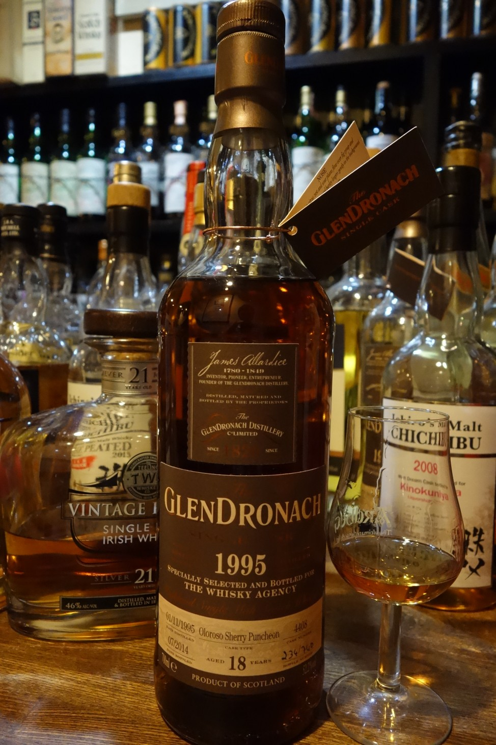 GLENDRONACH 1995-2014 18yo OB for THE WHISKY AGENCY #4408