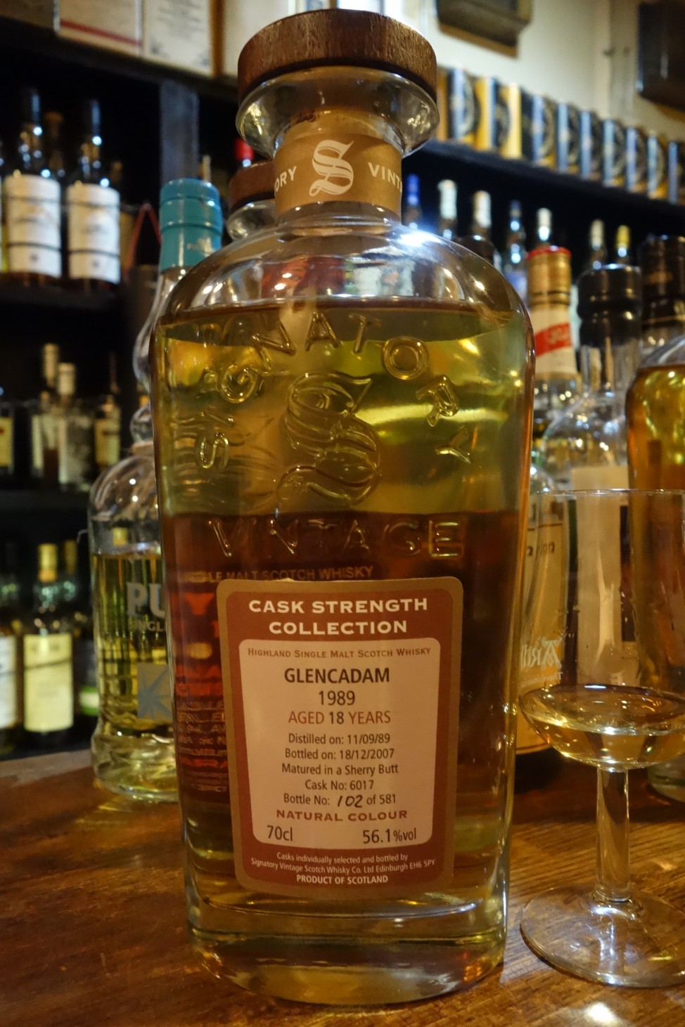 GLENCADAM 1989-2007 18yo SIGNATORY VINTAGE CASK STRENGTH COLLECTION #6017