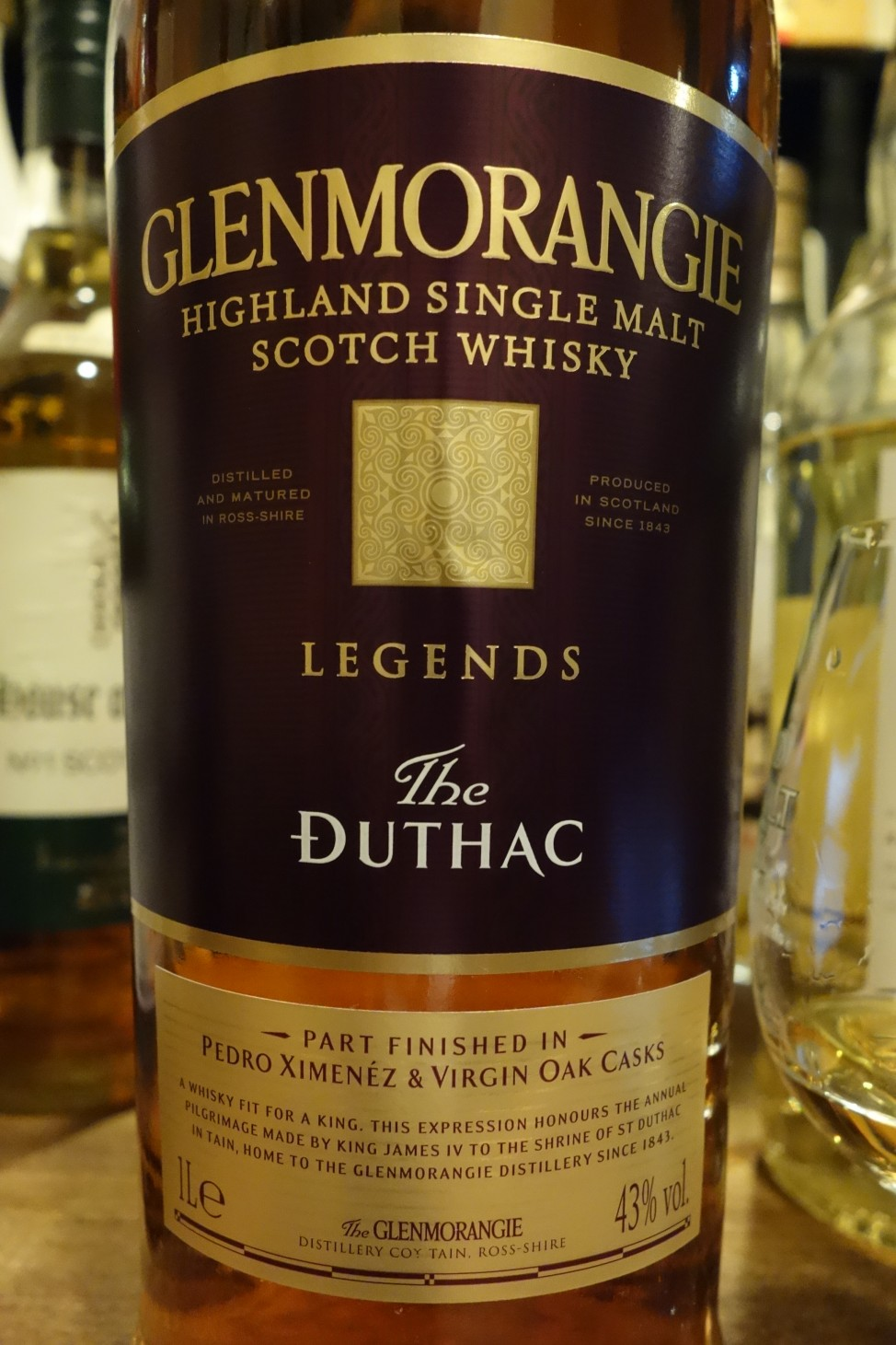 "グレンモーレンジ GLENMORANGIE OB ""The DUTHAC"" LEGENDS"