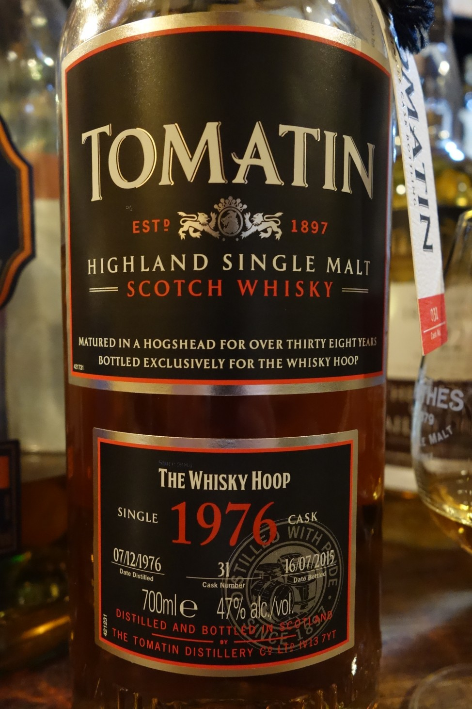 トマーティン TOMATIN 1976-2015 38yo OB for THE WHISKY HOOP #31