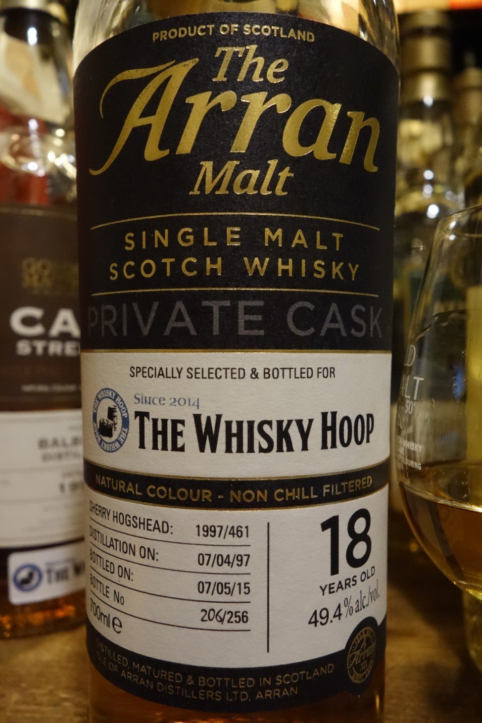 アラン ISLE OF ARRAN 1997-2015 18yo OB PRIVATE CASK for THE WHISKY HOOP #1997/461