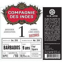 Compagnie des Indes 1 Single Cask Barbados Foursquare 9Years
