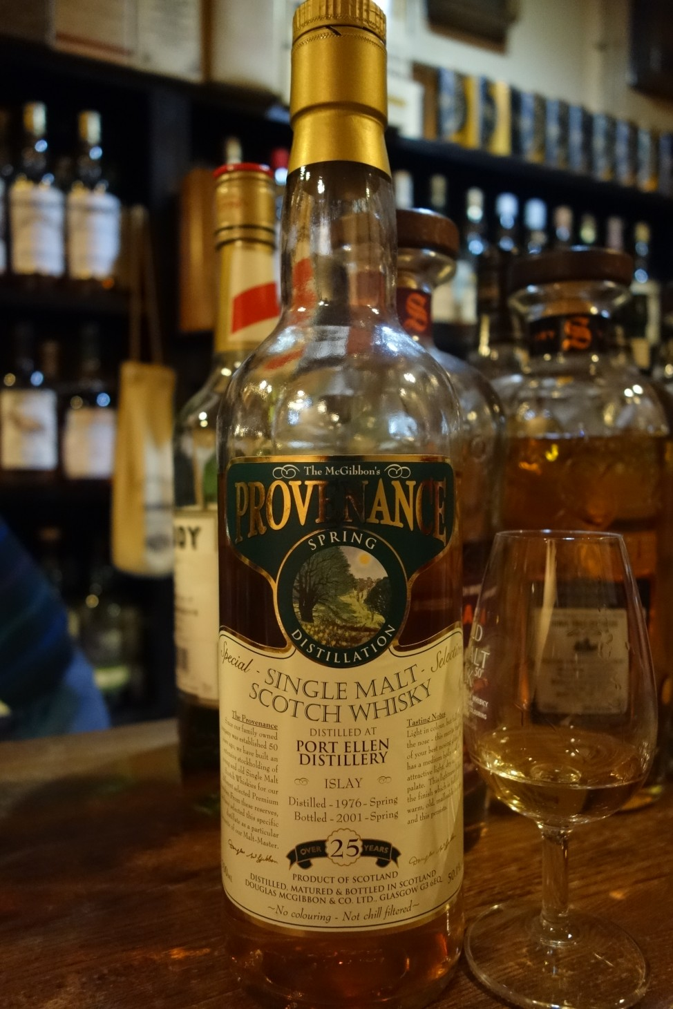 PORT ELLEN 1976-2001 25yo DOUGLAS MCGIBBON PROVENANCE