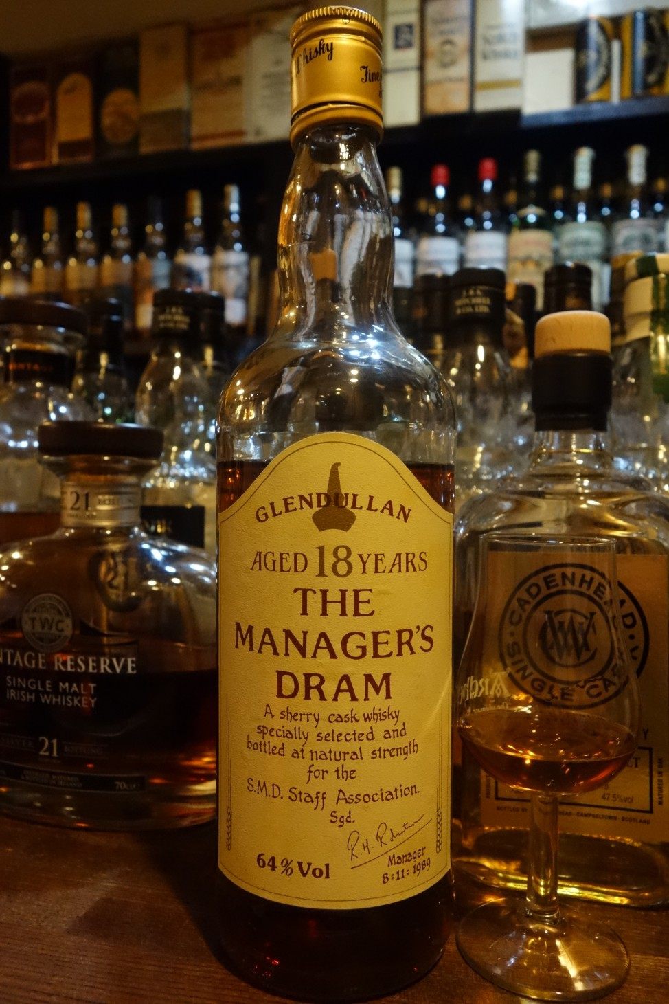 GLENDULLAN 18yo OB THE MANAGER''S DRAM