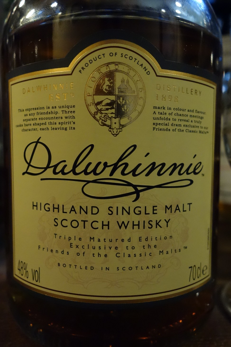 "ダルウィニー DALWHINNIE OB ""Triple Matured Edition"" for Friends of Classic Malts"
