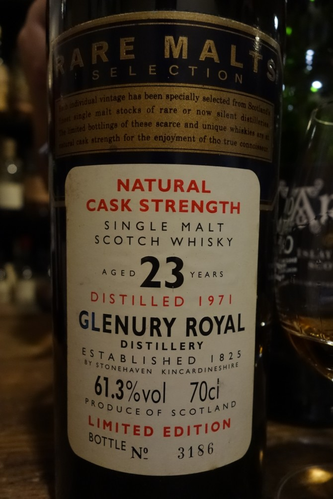 グレンユーリーロイヤル GLENURY ROYAL 1971 23yo OB RARE MALTS SELECTION 61.3%