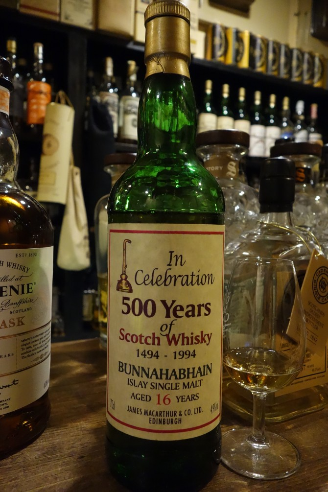 BUNNAHABHAIN 16yo JAMES MACARTHUR'S In Celebration 500 Years of Scotch Whisky