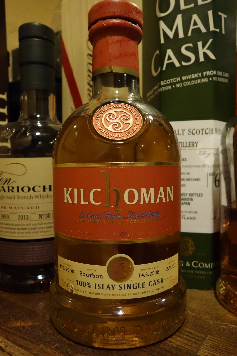 "キルホーマン KILCHOMAN 2008-2013 5yo OB ""100% ISLAY SINGLE CASK"" #402/2008"