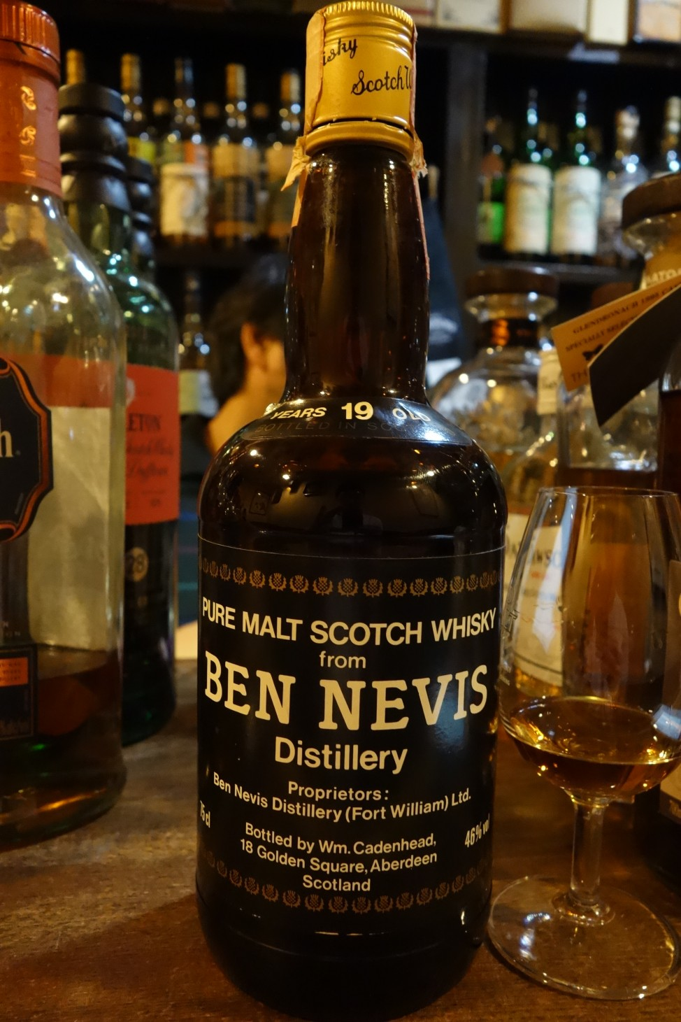 BENNEVIS 19yo CADENHEAD Black Dumpy Bottle