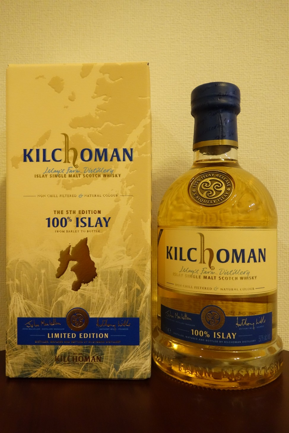 キルホーマン KILCHOMAN OB 100% ISLAY 2015 bottling 5TH EDITION (2)