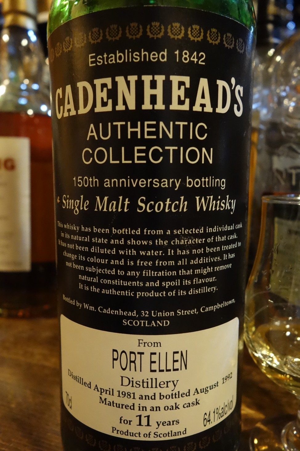 ポートエレン PORT ELLEN 1981-1992 11yo CADENHEAD 150th anniversary bottling (1)