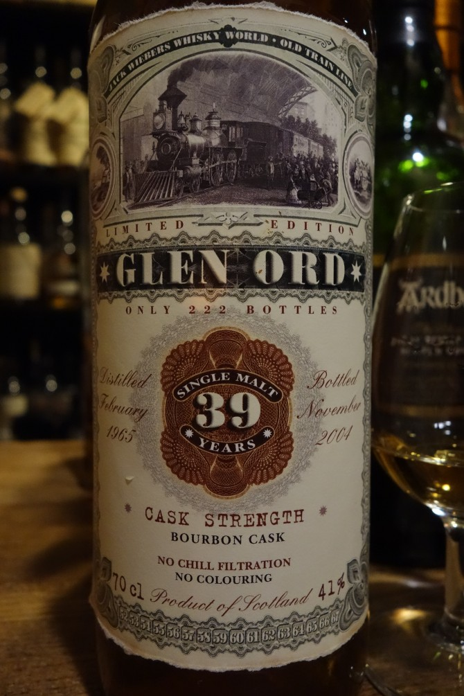グレンオード GLENORD 1965-2004 39yo JACK WIEBERS WHISKY WORLD OLD TRAIN LINE #1373