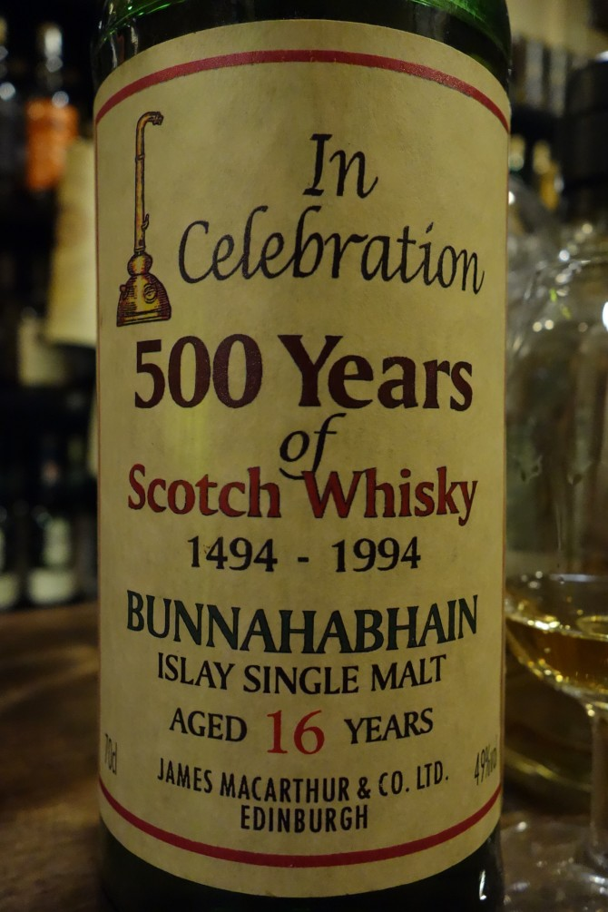 ブナハーブン BUNNAHABHAIN 16yo JAMES MACARTHUR'S In Celebration 500 Years of Scotch Whisky