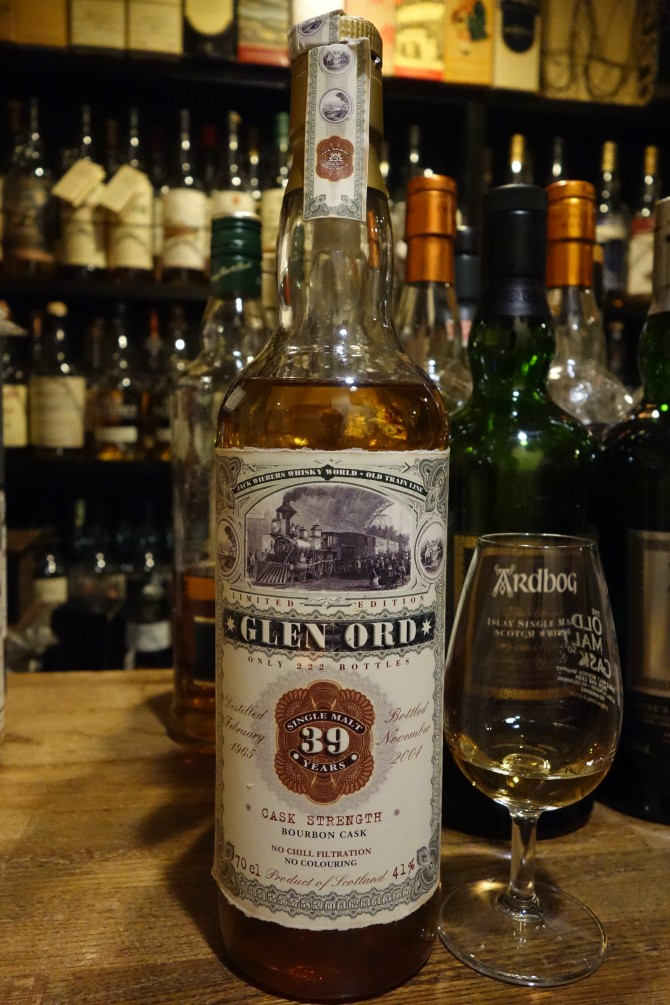 GLENORD 1965-2004 39yo JACK WIEBERS WHISKY WORLD OLD TRAIN LINE #1373