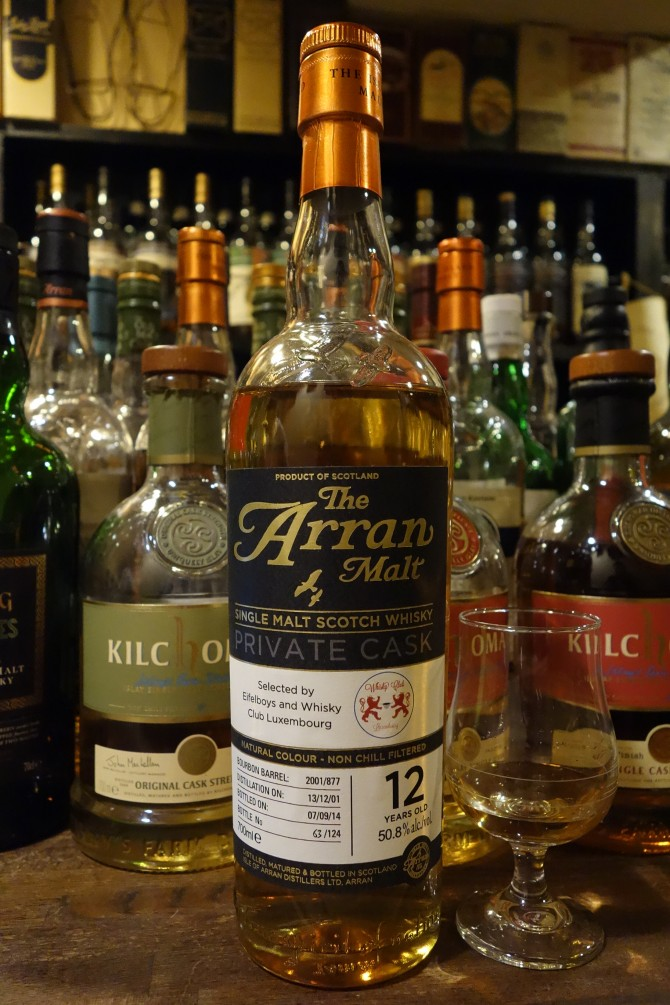 ISLE OF ARRAN 2001-2014 12yo OB PRIVATE CASK for Eifelboys and Whisky Club Luxembourg #2001/877