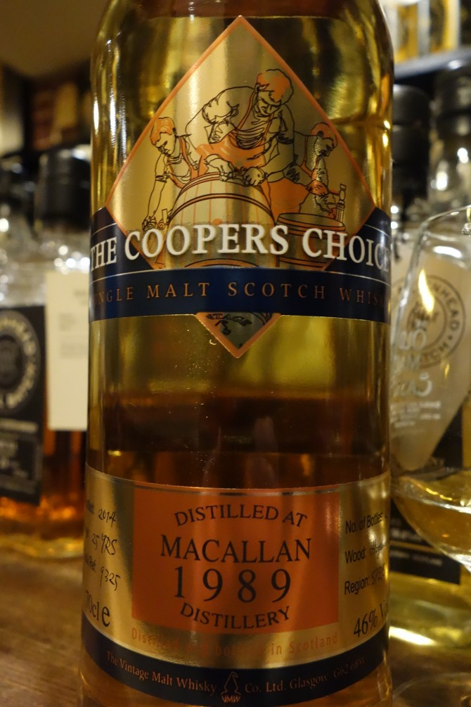 マッカラン MACALLAN 1989-2014 25yo THE VINTAGE MALT WHISKY THE COOPERS CHOICE #9325