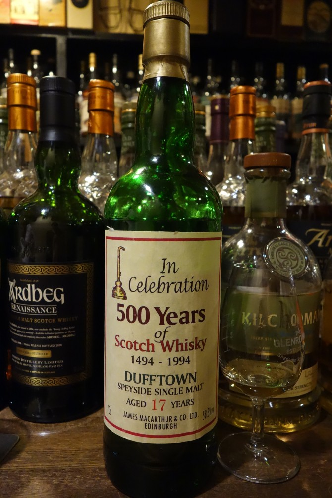 DUFFTOWN 17yo JAMES MACARTHUR'S In Celebration 500 Years of Scotch Whisky