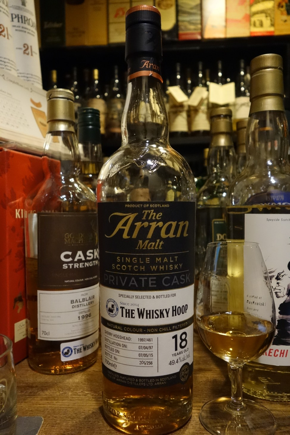 ISLE OF ARRAN 1997-2015 18yo OB PRIVATE CASK for THE WHISKY HOOP #1997/461