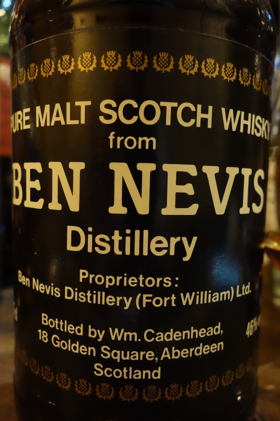 ベンネヴィス BENNEVIS 19yo CADENHEAD Black Dumpy Bottle